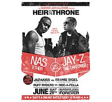 Jay-Z vs Nas - Heir to the Throne Photographic Print
