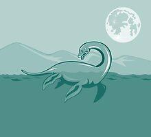Loch Ness Monster Retro by patrimonio