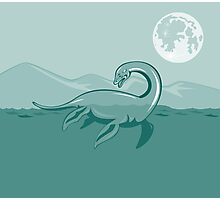 Loch Ness Monster Retro Photographic Print