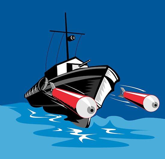 Torpedo Boat Retro by patrimonio