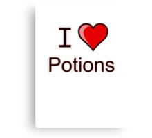 I love Halloween Magic potions  Canvas Print