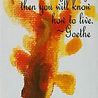 Goldfish1 - Goethe Quotes by Khairzul MG
