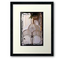 Bead Fringed Hand Stitched Lamp Shade Framed Print
