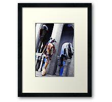 Trouble Always Comes in Threes Framed Print