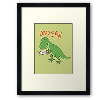 Dino Saw Framed Print