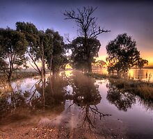 Caution Water On Road  (Revisited) - Junee, NSW - The HDR Experience by Philip Johnson