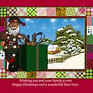 African American Santa Greeting Card by Moonlake