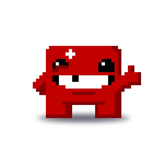 Super Meat Boy Pixels by Ollie Chanter