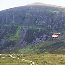 Irish Air & Sea rescue helicopter training in the Comeragh Mountains Co Waterford Ireland by ragsers