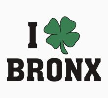 I Love (Shamrock) Bronx by HolidayT-Shirts