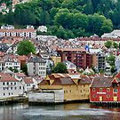 Buildings on Stilts, Bergen, Norway by Gerda Grice