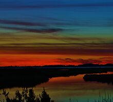 Deep Marshland Sunset by BeachBumPics