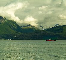 Fish Collection Boat Near Valdez by Yukondick