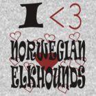 I <3 Norwegian Elkhounds by veganese