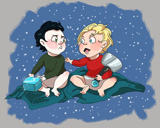 Baby-vengers- Loki and Thor by Flamingo-Girl