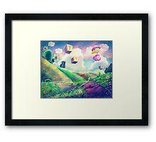 Princess Peach Landscape Framed Print