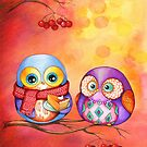 Thanksgiving Owls with Pumpkin Pie by Annya Kai