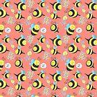 Silly Bees Pattern by SaradaBoru