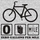 Zero Gallons Per Mile - Let&#x27;s Keep the World Clean  by Barbo