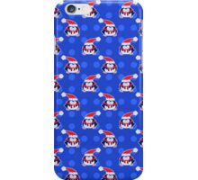 Blue Penguin Pattern iPhone Case/Skin