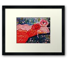 Who are you asking to the dance, girl talk, watercolor Framed Print