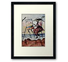 The plein air artist, watercolor Framed Print