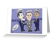 Caricature de ROMNEY GUMP et OBAMA Greeting Card