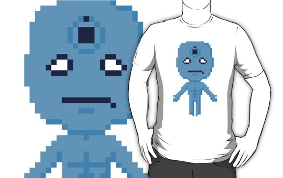 Dr. Manhattan Pixels by Ollie Chanter