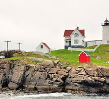 Cape Nubble Light, Maine, USA by fauselr