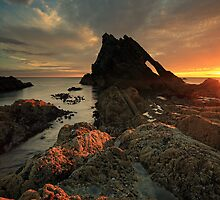 Bow Fiddle Rock Sunrise by Grant Glendinning