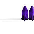 Purple High Heel Shoes by Natalie Kinnear