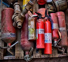 Extinguishers at Rest by Adam Northam