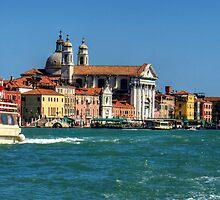 Vaporettos on the Giudecca by Tom Gomez