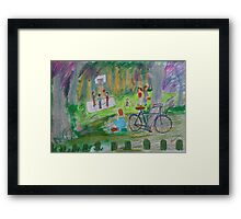 Family Day at the Park Framed Print