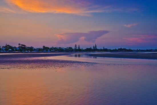Dusk over Shornecliffe Foreshore Brisbane Queensland by PhotoJoJo
