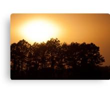 Windy Nebraska Sunset Canvas Print