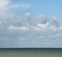 Ocean & Sky, Walcott Beach, Norfolk, England by Richard J. Bartlett