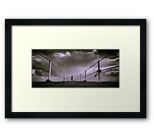 the future is here Framed Print