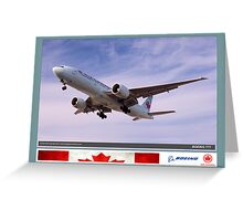 Air Canada Boeing 777 Greeting Card