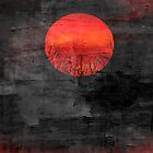 Sunset Abstract Painting #3 by Nhan Ngo