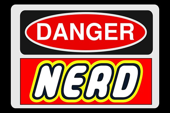 Danger Nerd Sign by Chillee Wilson, Customize My Minifig by ChilleeW