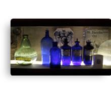Old herbal jars Canvas Print
