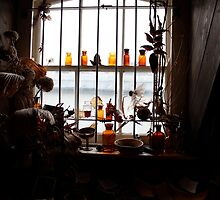 Old glass jars by TheLondonphile