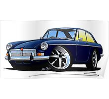 MG B GT Dark Blue Poster