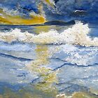 Sunrise over blue waters by Elizabeth Kendall