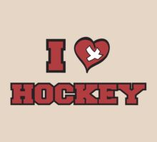 I Love Hockey by SportsT-Shirts