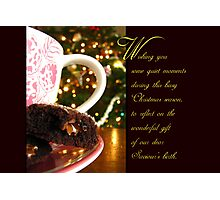 Quiet Moments Christmas Wish - Greeting Card Photographic Print