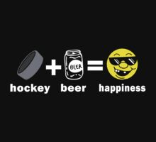 Funny Hockey + Beer = Happiness by SportsT-Shirts