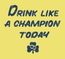 Drink Like a Champion - South Bend Style Yellow by colorhouse