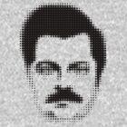 Ron Swanson Retro  by Madkristin